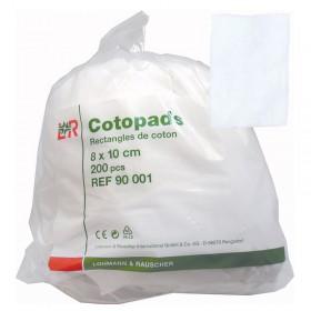 COTON CARRE 8X10 CM(200)