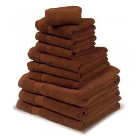 SERVIETTE 50x90CM CHOCOLAT COTON 450G/M2