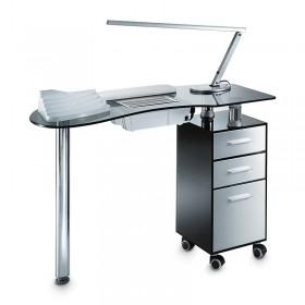 TABLE MANUCURE SMOKY AVEC ASPIRATION