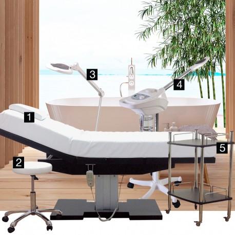 Cabine De Massage Esthetique Avec Table Electrique Chauffante Spalux